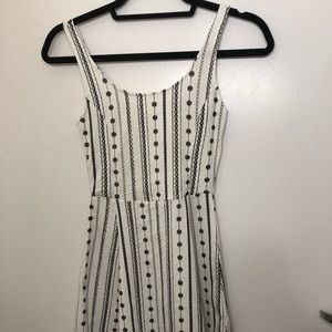 White & black causal dress from H&M